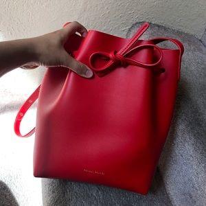 Red bucket bag!